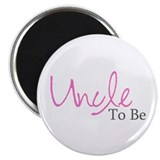 Uncle To Be (Pink Script) Magnet