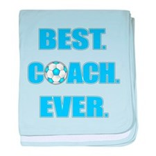 Best. Coach. Ever. Blue baby blanket