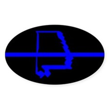 Cute Blue line police Decal
