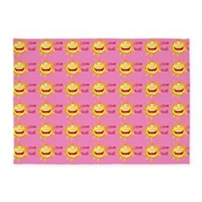 I Love God 5'x7' Pink Area 5'x7'area Rug
