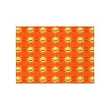 I Love Jesus Orange 5'x7'area Rug