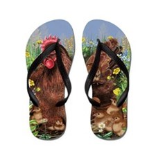 Chicken Family Flip Flops