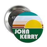 John Kerry Retro Sunrise Button - Vote Kerry