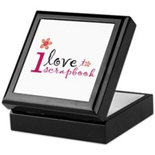 i love to scrapbook Keepsake Box