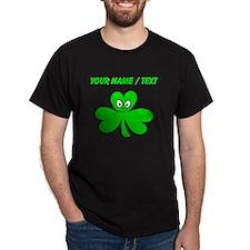 Custom Green Shamrock Face T-Shirt