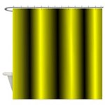 Black And Yellow Stripe Shower Curtain