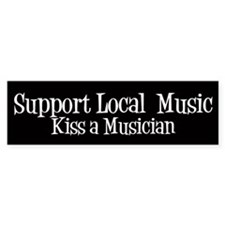Support Local Music Bumper Bumper Sticker