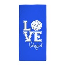 Love Volleyball, Royal Blue3 Beach Towel