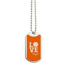 Love Volleyball, Orange3 Dog Tags