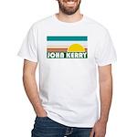 John Kerry Retro Sunrise White T-Shirt