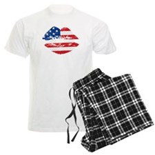 American Flag Lips Pajamas