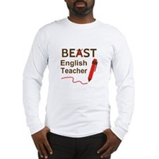 Funny Beast or Best English Teacher Long Sleeve T-