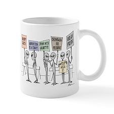 Alien Protestors Mugs