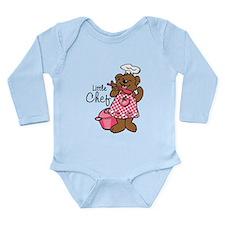 Bear Little Chef Long Sleeve Infant Bodysuit