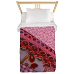 Twin Duvet Pink Fabric Collage