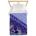 Twin Duvet Blue Violet Fabric Design