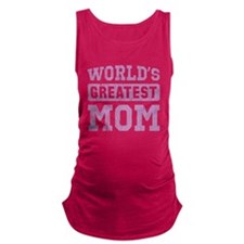 Worlds Greatest Mom Vintage Maternity Tank Top
