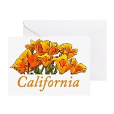 Stylized California Poppies Greeting Card