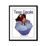 Texas Cupcake Framed Panel Print