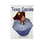 Texas Cupcake Rectangle Magnet (10 pack)