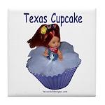Texas Cupcake Tile Coaster