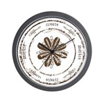 create, inspire (brown) Wall Clock