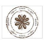 create, inspire (brown) Small Poster