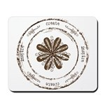 create, inspire (brown) Mousepad
