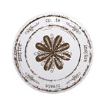 create, inspire (brown) Ornament (Round)