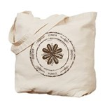 create, inspire (brown) Tote Bag