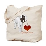 I Love Baby Goats Tote Bag