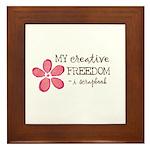 My creative FREEDOM i scrapbook (pink flower) Fram