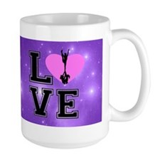 Love Cheerleading purple Mugs