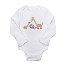 Cute Little sisters Long Sleeve Infant Bodysuit
