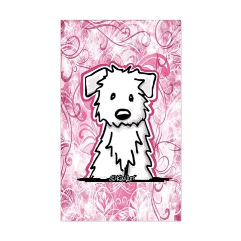Pink Plush Westie Decal