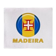 Madeira islands flag Throw Blanket
