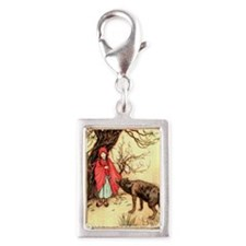 Little Red Riding Hood and t Silver Portrait Charm