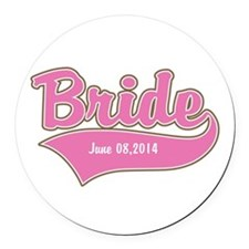 Bride Personalized Round Car Magnet