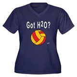 H2O Polo Women's Plus Size V-Neck Dark T-Shirt