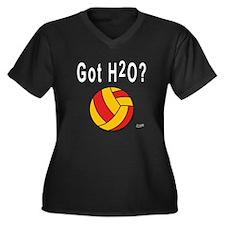 H2O Polo Women's Plus Size V-Neck Dark T-Shirt