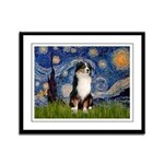 Starry - Tri Aussie Shep2 Framed Panel Print