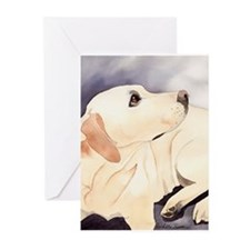 Yellow Lab #1 Items Greeting Cards (Pk of 10)
