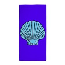 Purple and Blue Scallop Shell Beach Towel
