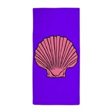 Purple Scallop Shell Beach Towel