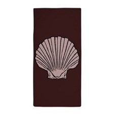 Chocolate Scallop Shell Beach Towel