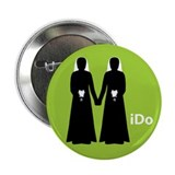 """I Do"" Brides Green Button"