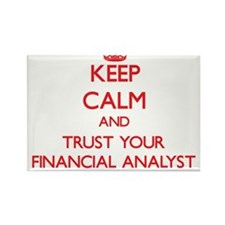 Keep Calm and trust your Financial Analyst Magnets