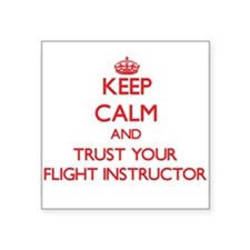 Keep Calm and trust your Flight Instructor Sticker