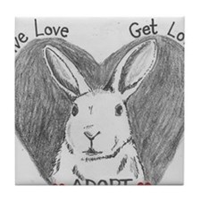 Rabbit Rescue Adoption Tile Coaster