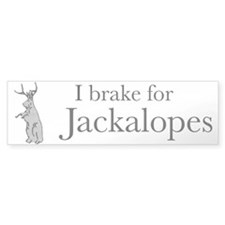 'I Brake for Jackalopes' Bumper Bumper Sticker